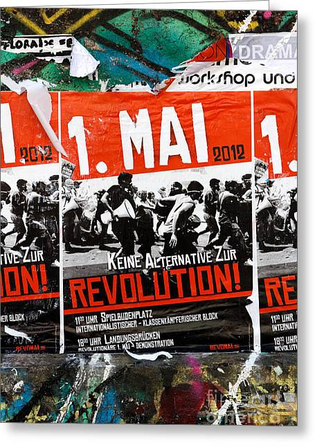 May Day 2012 Poster Calling For Revolution Greeting Card