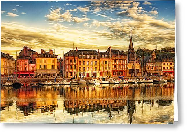 May Evening Honfleur Greeting Card by Jack Torcello