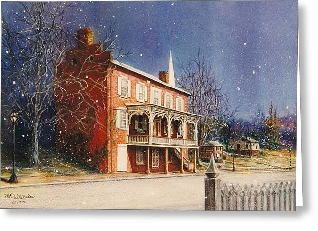 May House In Winter Greeting Card