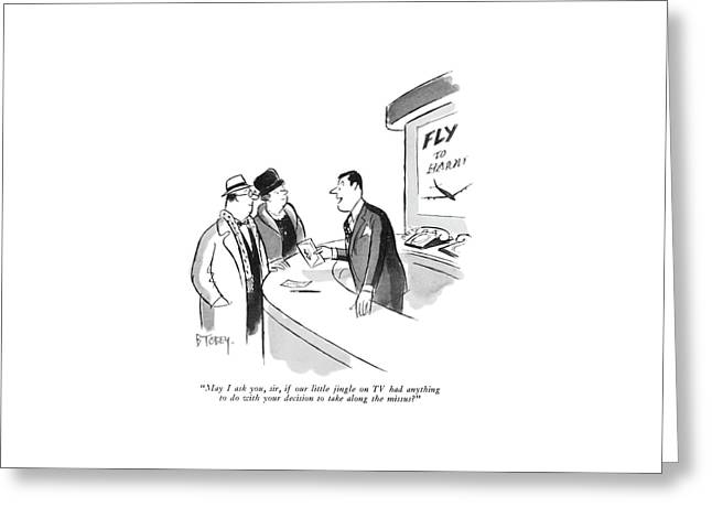 May I Ask Greeting Card by Barney Tobey