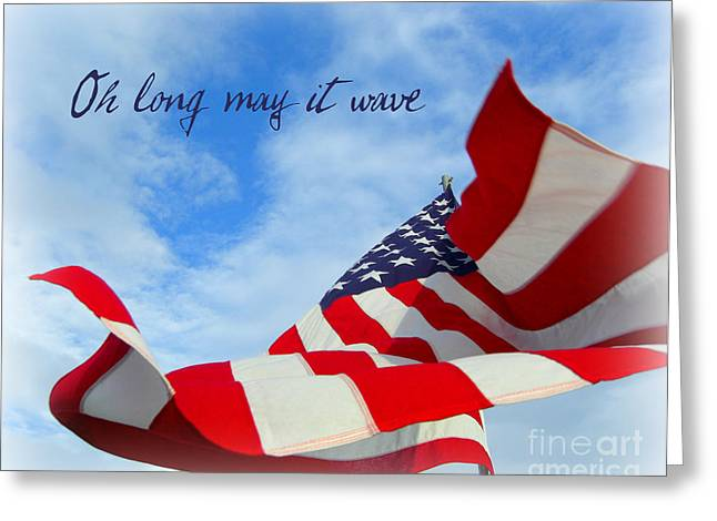 Greeting Card featuring the photograph May It Wave by Heidi Manly