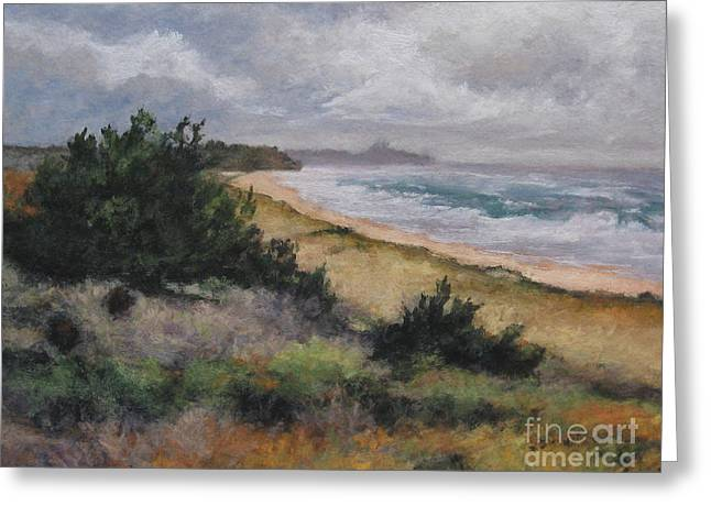 May Storm - Montauk Greeting Card by Gregory Arnett