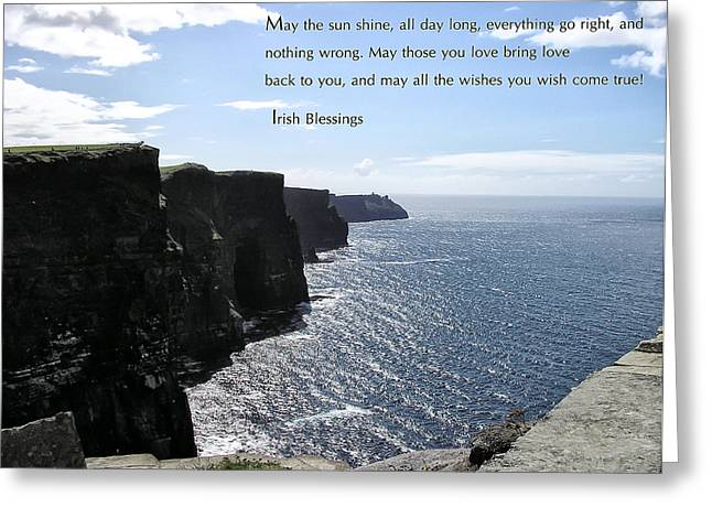 May The Sun Shine All Day Long Greeting Card