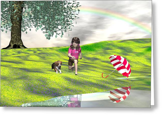 May You Jump In Puddles Greeting Card by Michele Wilson