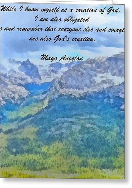 Maya Angelou Greeting Card by Dan Sproul