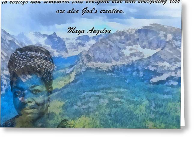 Maya Angelou Tribute Greeting Card by Dan Sproul