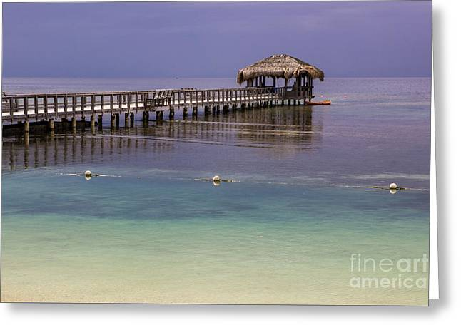 Maya Key Pier At Roatan Greeting Card