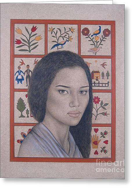Maya Greeting Card by Lynet McDonald