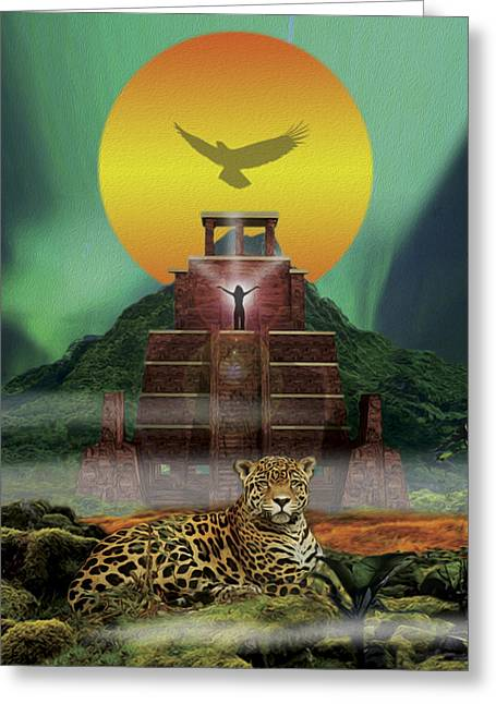 Mayan Jaguar Extinction Is Forever Greeting Card by John Fronza