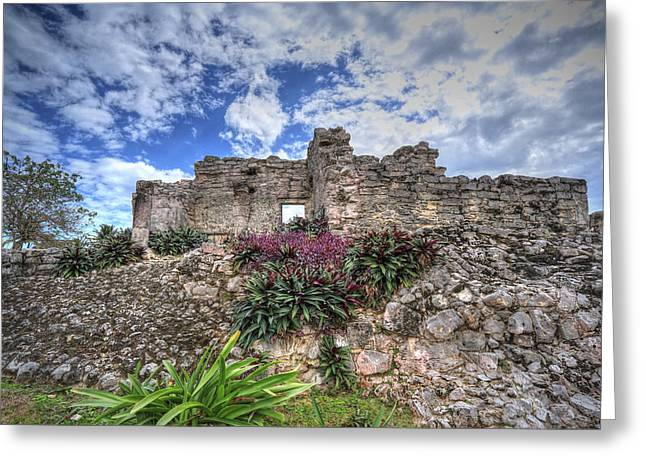 Greeting Card featuring the photograph Mayan Ruin At Tulum by Jaki Miller