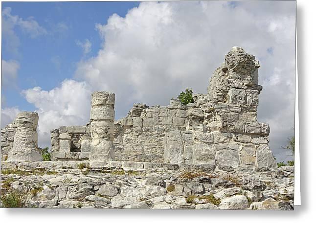 Mayan Ruins Greeting Card by Charline Xia
