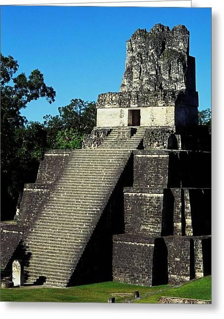 Mayan Ruins - Tikal Guatemala Greeting Card