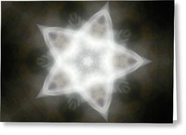 Mayan Star Greeting Card by Lisa Lipsett
