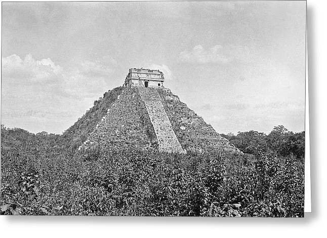 Mayan Step Pyramid Greeting Card by American Philosophical Society