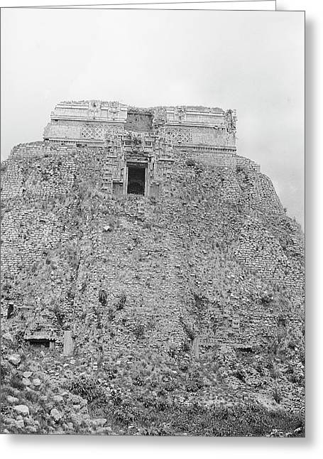 Mayan Temple Ruins Greeting Card by American Philosophical Society