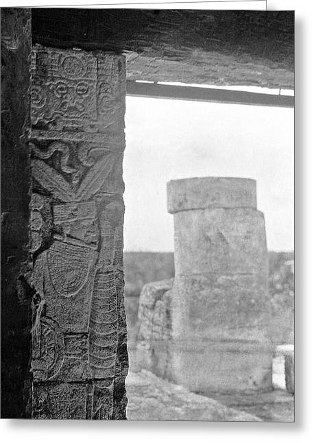 Mayan Temple Stele Greeting Card by American Philosophical Society