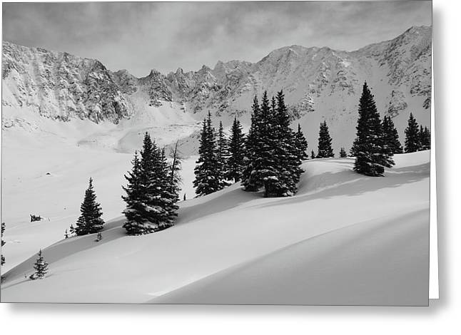 Mayflower Gulch Monochrome Greeting Card by Eric Glaser