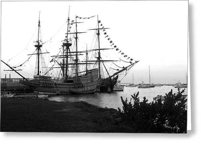 Greeting Card featuring the photograph Mayflower II by John Hoey