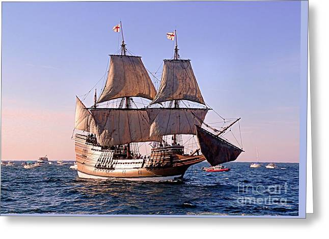 Mayflower II On Her 50th Anniversary Sail Greeting Card