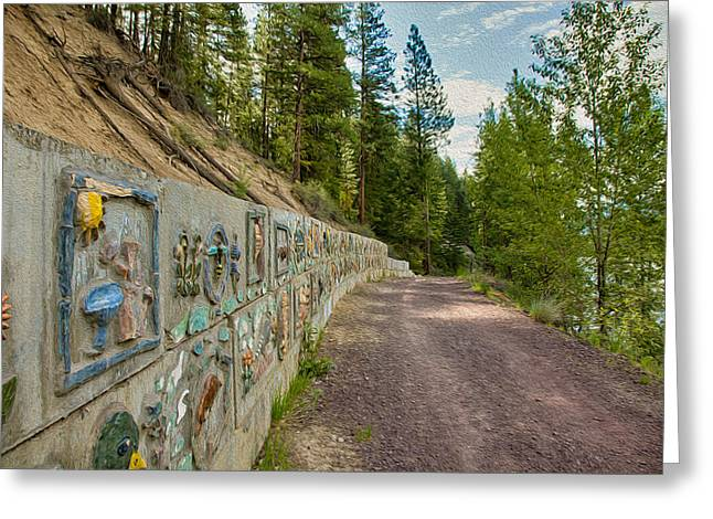 Mazama Suspension Bridge Trail Greeting Card by Omaste Witkowski