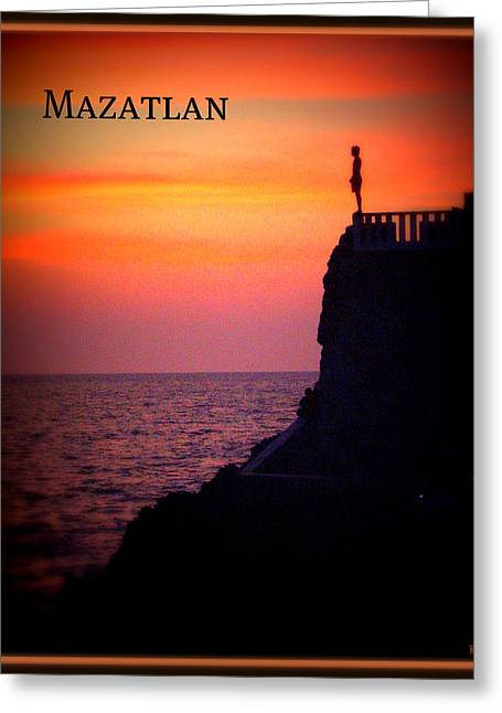 Greeting Card featuring the photograph Mazatlan Diver by Heidi Manly