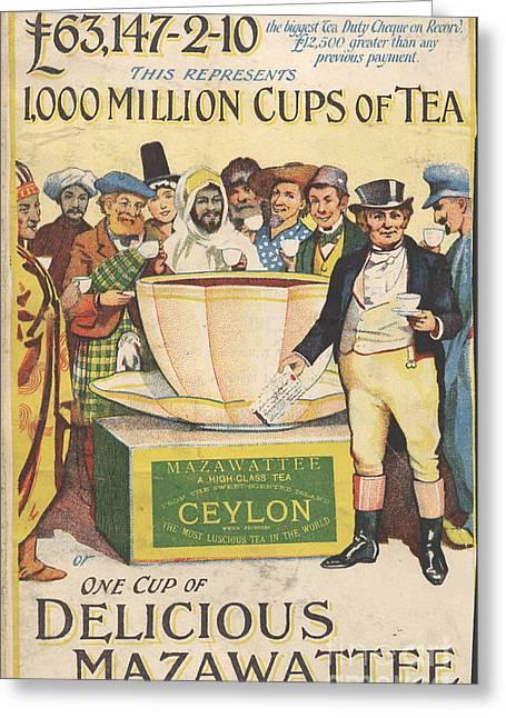Mazawattee 1890s Uk John Bull Tea Greeting Card by The Advertising Archives
