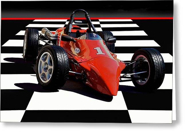 Mazda - Indy Training Car Greeting Card by Dave Koontz