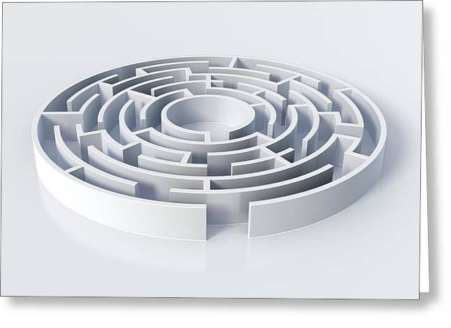 Maze, Artwork Greeting Card by Science Photo Library