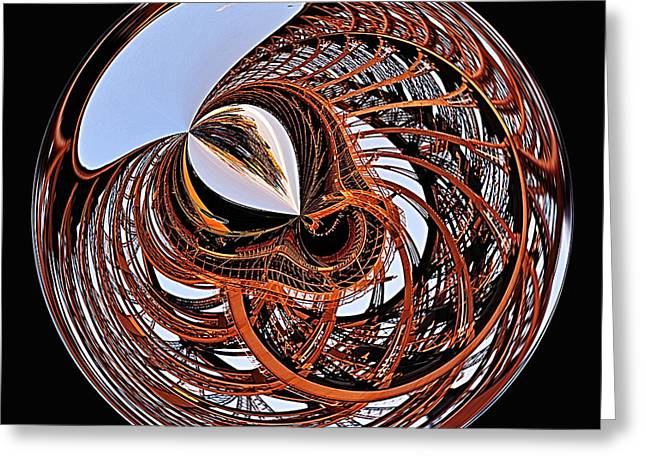 Maze Of Steel Greeting Card by Kaye Menner