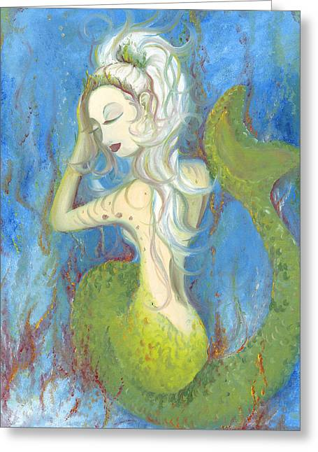 Mazzy The Mermaid Princess Greeting Card
