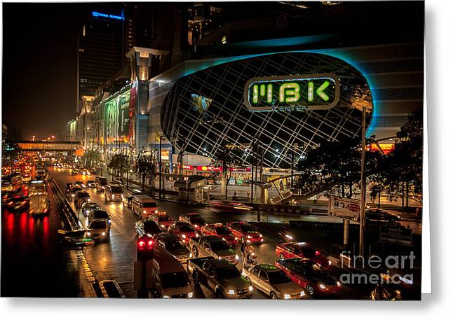 Mbk Bangkok  Greeting Card by Adrian Evans