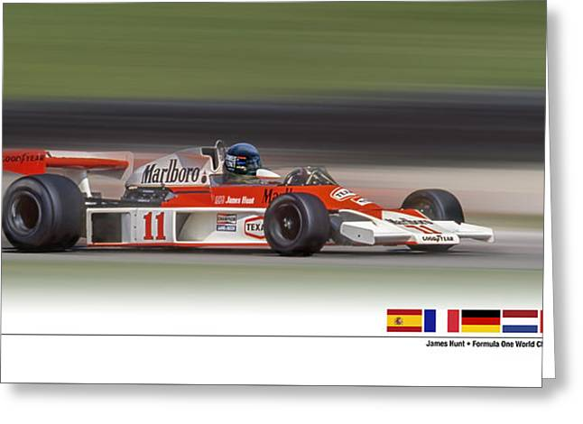 Mc Laren M23 Hunt Greeting Card