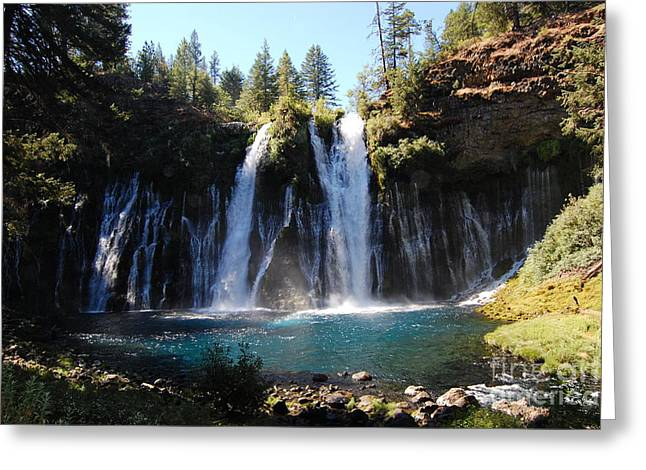 Greeting Card featuring the photograph Mcarthur-burney Falls 2 by Debra Thompson