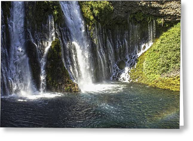 Greeting Card featuring the photograph Mcarthur-burney Falls 2 by Sherri Meyer