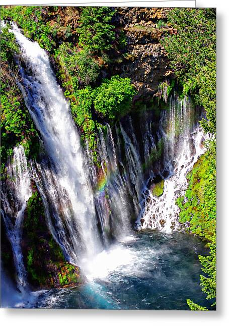 Mcarthur Burney Falls Rainbow Greeting Card