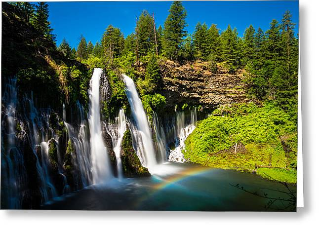 Mcarthur Burney Falls Greeting Card by Scott McGuire