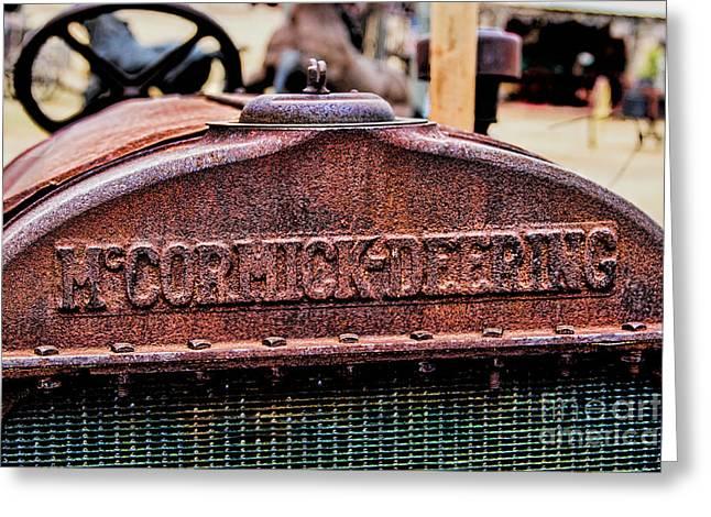 Mccormic Deering Greeting Card by Jon Burch Photography