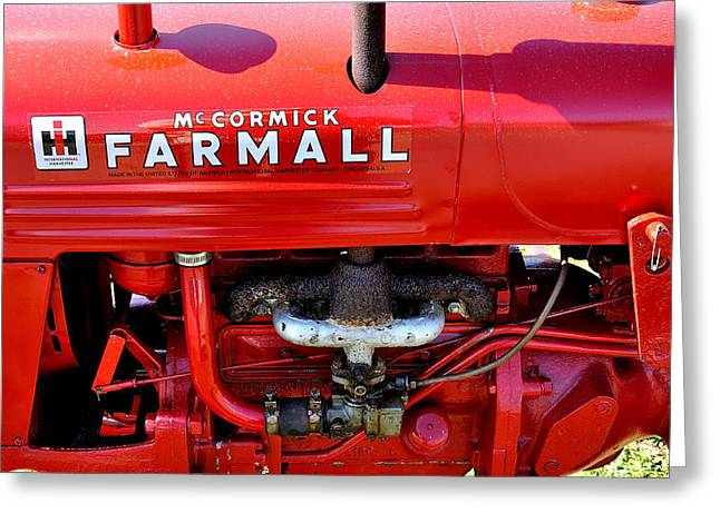 Mccormick Farmall Greeting Card by Todd Hostetter