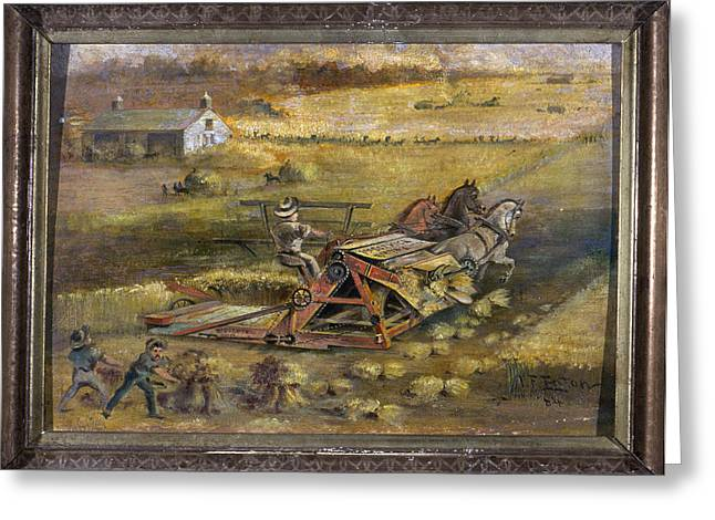 Mccormick Reaper, 1884 Greeting Card by Granger