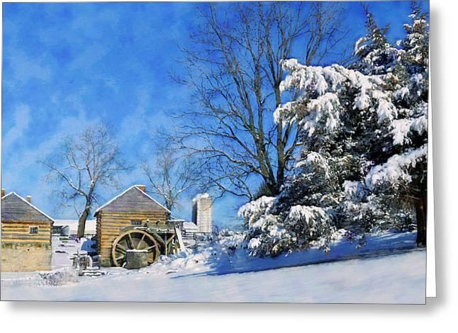 Mccormick's Farm February 2012 Series V Greeting Card by Kathy Jennings