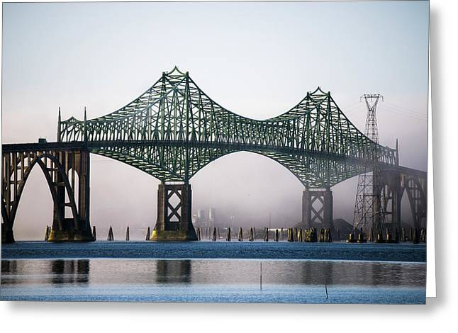 Mccullough Bridge Spans Coos Bay  North Greeting Card by Robert L. Potts