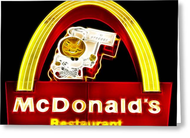 Mcdonalds - Electric Greeting Card by Wingsdomain Art and Photography