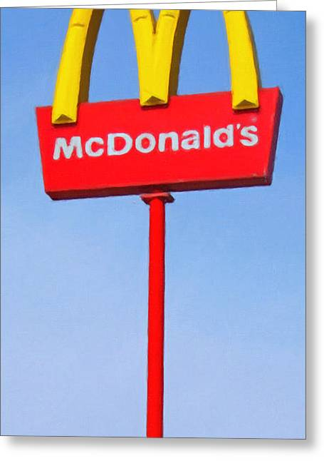 Mcdonald's - Painterly - V1 Greeting Card by Wingsdomain Art and Photography