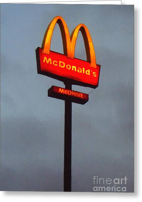 Mcdonald's - Painterly - V2b Greeting Card by Wingsdomain Art and Photography