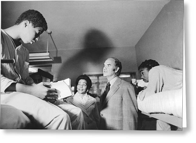 Mcgovern And Mrs. Coretta King Greeting Card by Underwood Archives