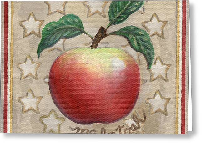 Mcintosh Apple Two Greeting Card by Linda Mears