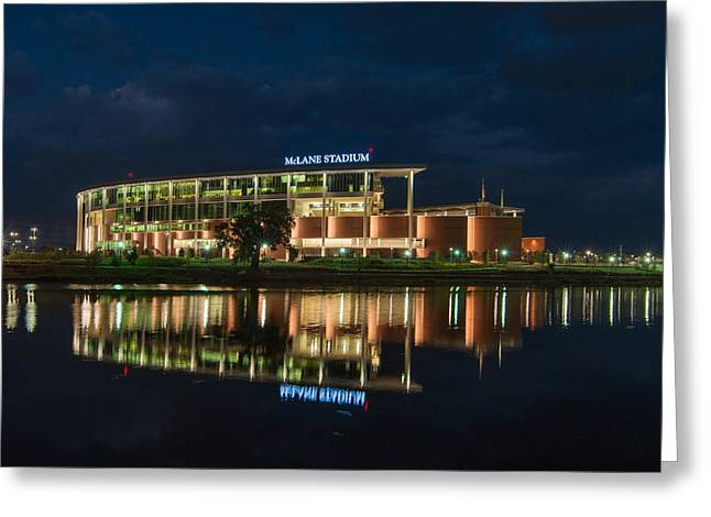 Mclane Stadium At Night Greeting Card