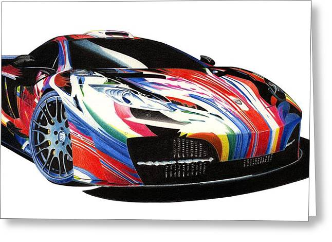 Mclaren Art Car Greeting Card by Lyle Brown