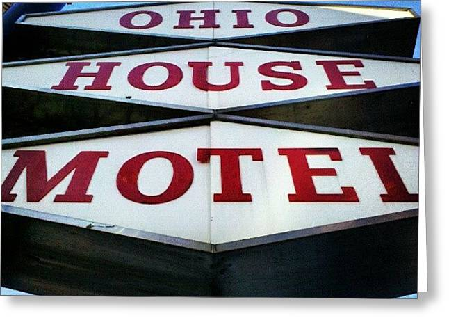 Mcm Motel Greeting Card