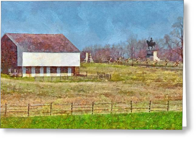 Mcpherson's Barn At Gettysburg National Military Park Greeting Card